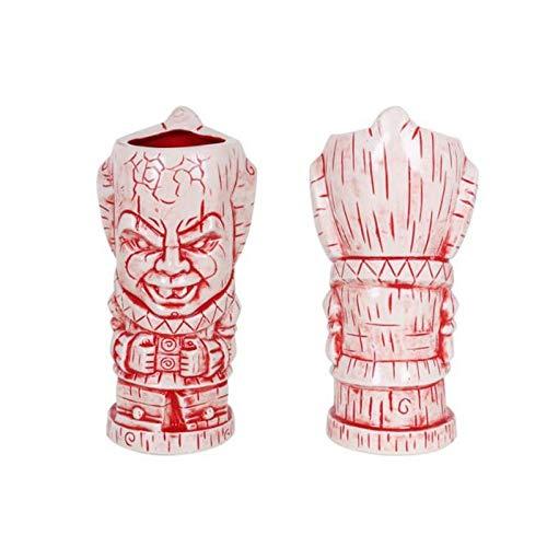 VIEJO VALLE Vaso Tiki cerámica - Vaso Copa Cóctel Tropicales Divertidos (Eddie) 10x21cm / 62cl