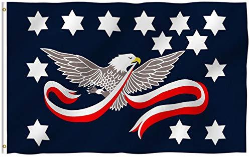 ANLEY Fly Breeze 3x5 Foot (90x150 cm) Whiskey Rebellion Flag - Levendige kleuren en UV-vervagend - Canvaskop en dubbel gestikt - Whiskey Insurrection Flags Polyester met messing oogjes 3 X 5 Ft