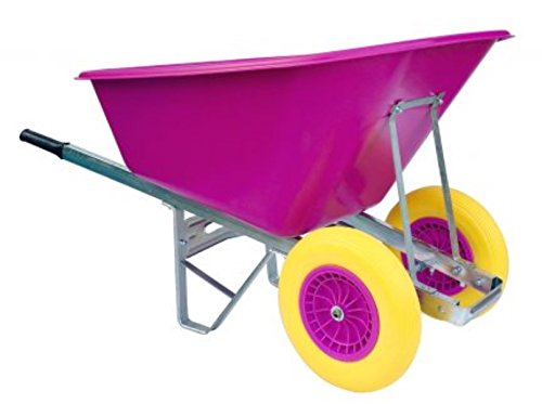 Wheelbarrows Direct - 200L Pink with Puncture-Proof Wheels - Delivered...