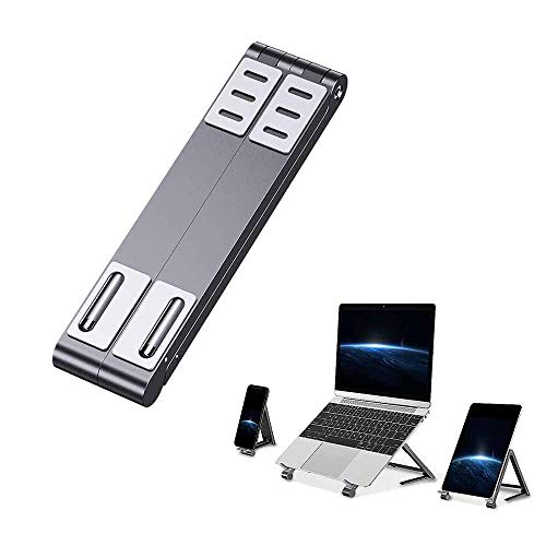 Youool Tablet Laptop Phone 3 in 1 Stand Holder, Adjustable Aluminum Stands,Ventilated Stable Non-slip Portable Magic Bracket