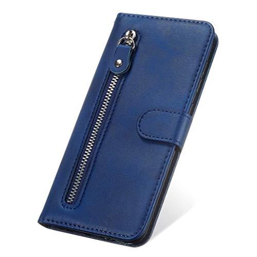 GOGME Hülle für Oppo Reno4 Pro 5G Wallet Brieftasche, Oppo Reno4 Pro 5G Flip Handyhülle, Premium Leder mit Ständer Funktion und Kartenfach und Magnetic Snap Schutzhülle, Blau
