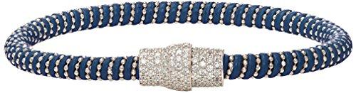 Ingenious Jewellery Donna 925 argento placcato al rodio Rotonda trasparente Zirconia cubica