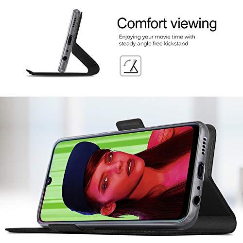 GEEMAI für Huawei P Smart Plus 2019 Hülle, für Honor 20 Lite Hülle, handyhüllen Flip Hülle Wallet Stylish mit Standfunktion und Magnetisch PU Schutzhülle passt für Huawei P Smart+ 2019 Phone,Schwarz - 6