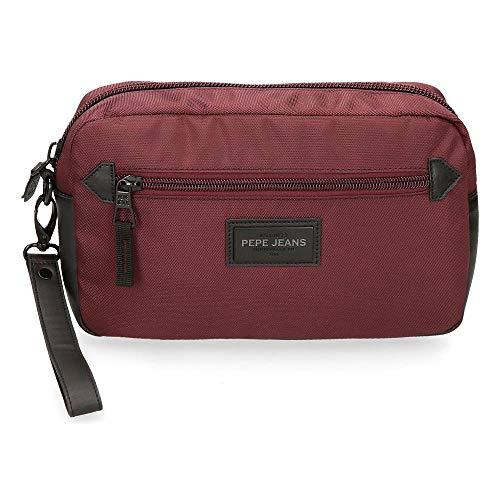 Pepe Jeans Lambert Bolso de Mano Rojo 24,5x15x6 cms Poliést