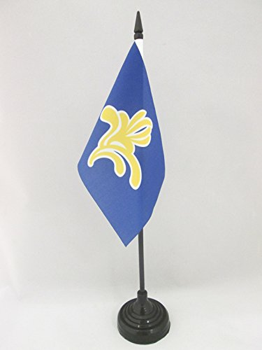 AZ FLAG TISCHFLAGGE BRÜSSEL-Hauptstadt 15x10cm - BRÜSSELER Region TISCHFAHNE 10 x 15 cm - flaggen