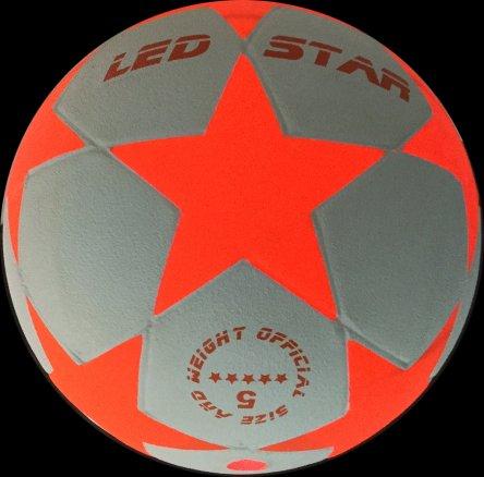 Leuchtfussball Night Kick LED Star-W Champion der Leuchtfussbälle - jetzt als weiße/orange Ausgabe