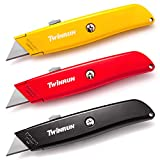 TWINRUN Retractable Utility Knife Box Cutter with Durable Metal Handle Smooth Multi-Position Blade...