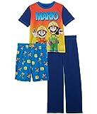 Komar Kids Boy's Super Mario Three-Piece Short Sleeve Set (Little Kids/Big Kids) Navy SM (6-7 Little Kids)