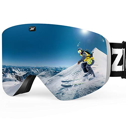 ZIONOR X11 Ski Snowboard Snow Goggles with Magnetic Interchangeable Cylindrical Lens Anti-fog UV...