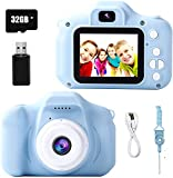 Koalad Kids Camera Digital Dual Camera 1080P 20MP Video with 32GB Memory Card Camcorder Anti-Drop Children Selfie Camera for Girls Boys Birthday Gift