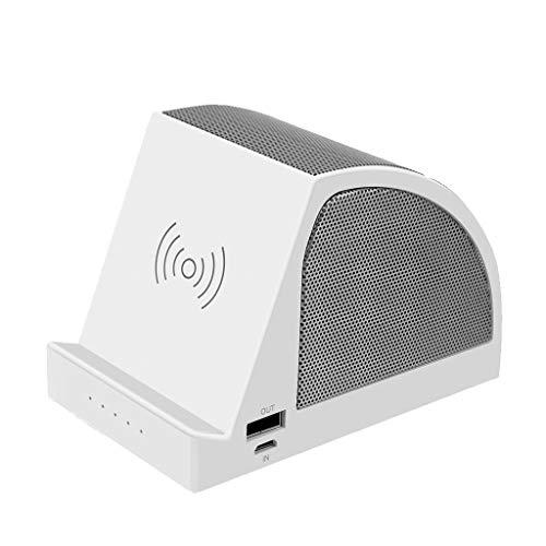 kashyk 2 in 1 Bluetooth Lautsprecher,Tragbarer kabelloser Ladeanschluss USB-Ladeanschluss Mobiler Ständer Bluetooth-Lautsprecher Mini Lautsprecher für Zuhause, Reisen, Strand
