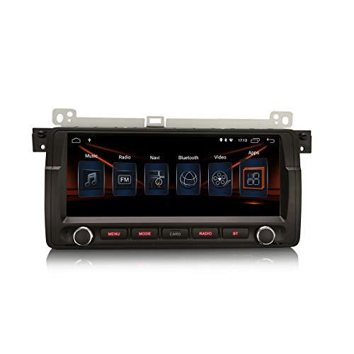 ERISIN Android 10.0 Autoradio per BMW Serie 3 E46 3er M3 Rover 75 MG ZT 8.8 pollici Supporto GPS Bluetooth CarPlay DSP Amplificatore Wifi 4G DAB + RDS Mirror Link TPMS 2GB RAM + 16GB ROM