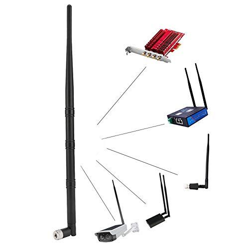 ASHATA WiFi-antenne, W210 3 secties Antenne WiFi 2,4 GHz 9dBi High Gain-antenne voor netwerkkaart/router, draagbare draadloze netwerkkaartantenne met sterk stabiel signaal