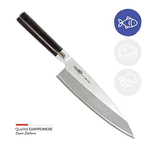 Totiko Japan Knives, professionelles Japanisches Küchenmesser - DEBA Sakai Messer mit 18,5 cm Klinge - 6 inch