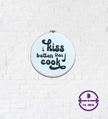 Stickrahmen - i kiss better - 20 cm -