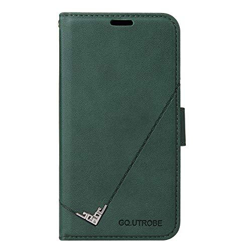 Hülle für Xiaomi Redmi 7A Lederhülle Flip Tasche Klappbar Handyhülle mit [Kartenfächer] [Ständer Funktion], Cover Schutzhülle für Xiaomi Redmi 7A - JEYTB010621 Grün