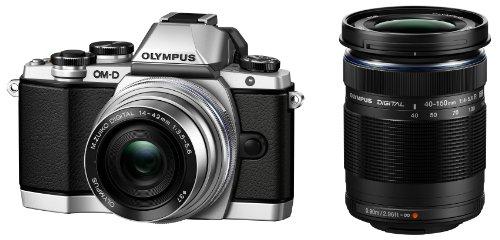 OLYMPUS OM-D E-M10 ダブルズームキット</br></noscript> シルバー ミラーレス一眼 OM-D E-M10 DZKIT SLV