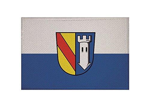 U24 Aufnäher Ettlingen Fahne Flagge Aufbügler Patch 9 x 6 cm