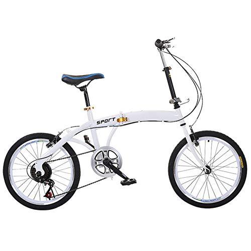 Urcar Vélo Pliant Vélo Adulte léger Transmission à 6 Vitesses Ailes Avant et arrière,Idéal...