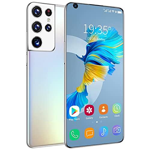 NZQLJT Teléfono Inteligente 7.3 Pulgadas Android 10 Smartphone, Batería Grande 16GB RAM 512GB ROM Dual Sim Desbloqueado Teléfono Móvil Bloqueo De Huellas Dactilares E Identificación Facial, GPS, WiFi