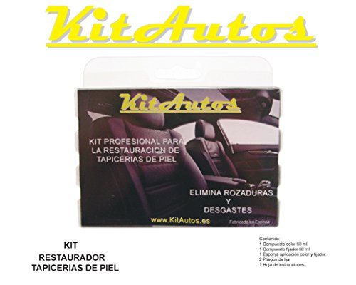 KITAUTOS KRTP1 Kit restauracion tapicerias de Piel,Color Negro, 15