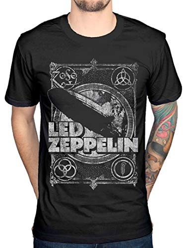 Offiziell Led Zeppelin Shook Me T-Shirt Black