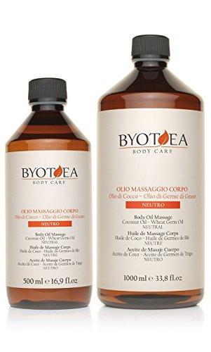 Byothea Huile de massage corps neutre - 1000 ml