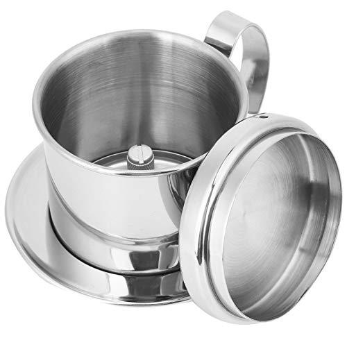 Fybida Verschleißfeste Kaffee-Utensilien 304 Edelstahl Umweltfreundliche Silberne Kaffeekanne für Privathaushalte Geschäftsreisen zur Kaffeezubereitung