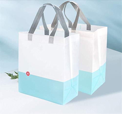 Nuokix Bolsa de Picnic Azul 50 no Tejida de los Bolsos del Bolso del supermercado la Compra Bolsas de Regalo Ropa de protección del Medio Ambiente Bolsas Bolsas de Picnic Cocina para Guardar Objetos