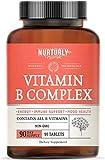Vitamin B Complex - Contains All Essential B Vitamins Including B1, B2, B3, B5, B6, B7, B9, B12 and Biotin – Super B Complex Vitamins for Energy, Immunity and Mood Support – 90 Tablets