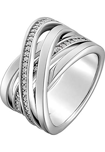 JETTE Silver Damen-Damenring 925er Silber 50 Zirkonia 57 Silber 32005353