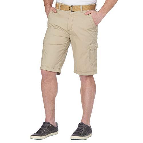 Wearfirst Men's Belted Cargo Short (34, Tan)