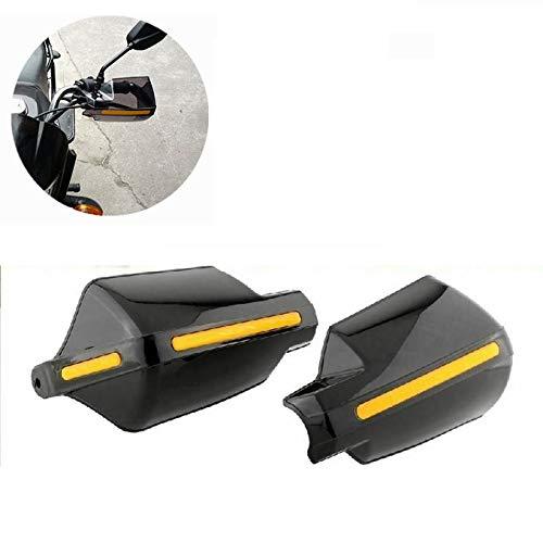 Par de Protectores de Manos para Motocicleta, 22 mm, 7/8', Color Negro