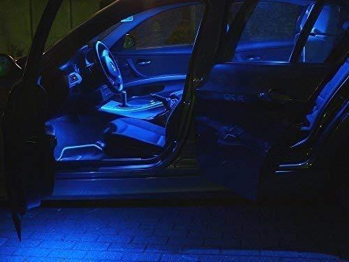 14x LED Innenraum Beleuchtung Set Seat Exeo 3R5 ST Kombi Lampen in blau, Baujahr 2009 bis Facelift 09/2011