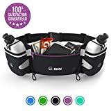 G-Run Hydration Running Belt with Bottles - Water Belts for Woman and Men - iPhone Belt for Any Phone Size -...