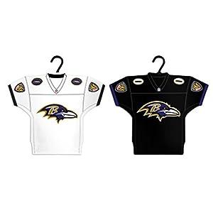 Boelter Brands NFL Baltimore Ravens Home & Away Jersey Ornament, 2-Pack