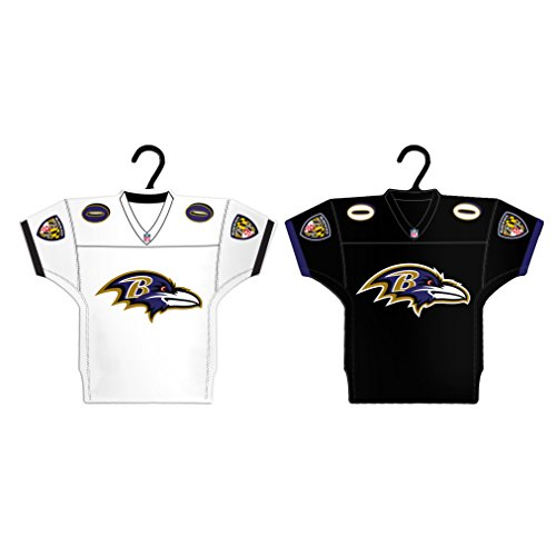 Boelter Brands NFL Baltimore Ravens Home & Away Jersey Ornament, 2-Pack