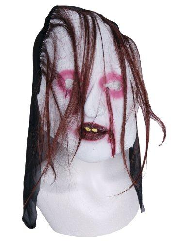 Zombie Masque en caoutchouc Bloody Yeux marron