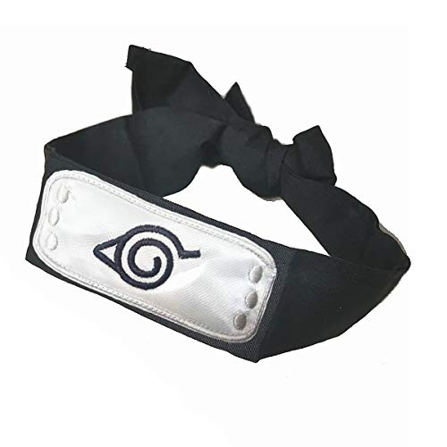 IDOXE Leaf Village Logo Headband, Halloween Costume Ninja Head Band Kakashi Cosplay