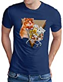 OM3® Hamsterkäufe T-Shirt - Herren - Hamstern Panik Hysterie - Royal Blau, XXL