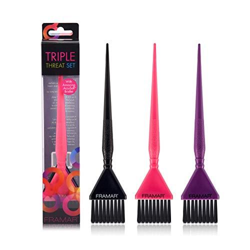 Framar - Set di pennelli per capelli a tripla minaccia