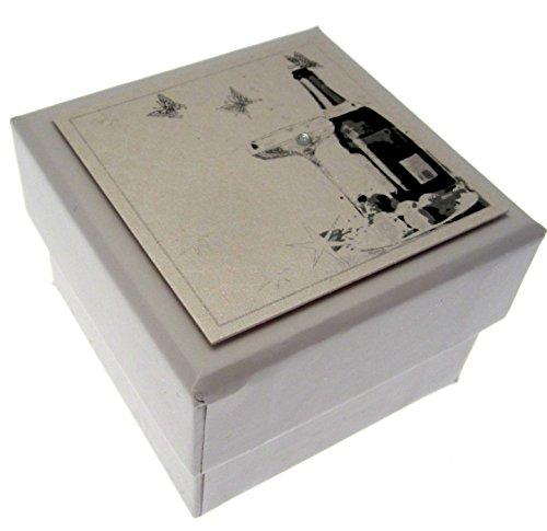 White Cotton Cards huwelijksdoos geschenkdoos, met mini, design champagne