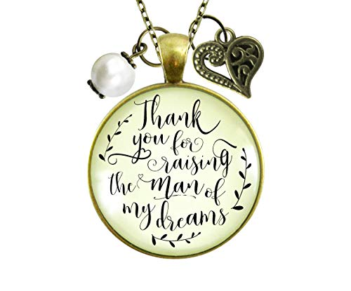 Gutsy Goodness 36' To Her Mother in Law Necklace Thank You Raising Man I Dreamed Wedding Gift