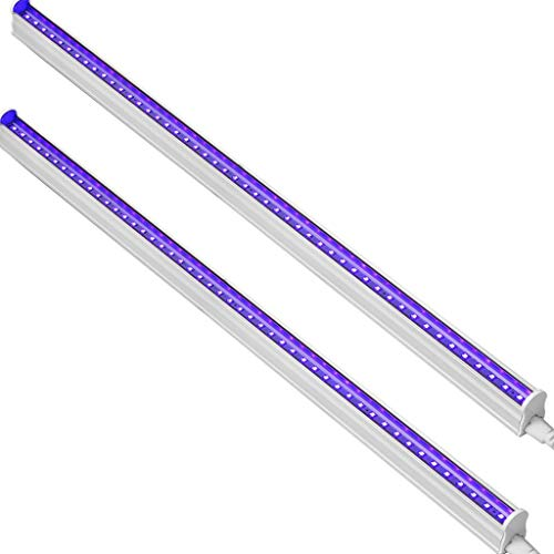 CATIYA UV LED Black Light Fixtures, T5 LED Light Tube 10W, 2ft, 48 LED 395nm Ultraviolet Blacklight Lamp
