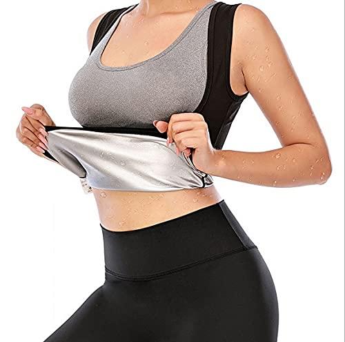 GUOIOOI Chaleco De Sudor De Sauna para Mujer, Camiseta Sin Mangas De Entrenamiento para Adelgazar para Adelgazar, Color Negro (Size : XS)