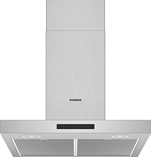 Siemens LC66BBM50 iQ300 Dunstabzugshaube / Wandhaube / 60 cm / LED-Beleuchtung / Extrem leise / Elektronische Steuerung / Metall-Fettfilter / Edelstahl
