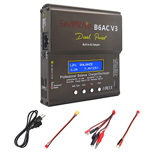 Lipo Charger,Balance Battery Charger Discharger with Power Supply for LiPo/Li-ion/Life/LiHV Battery (1-6S),NiMH/NiCd (1-15S),PB (2-24V),Smart Battery(RC Battery Charger)