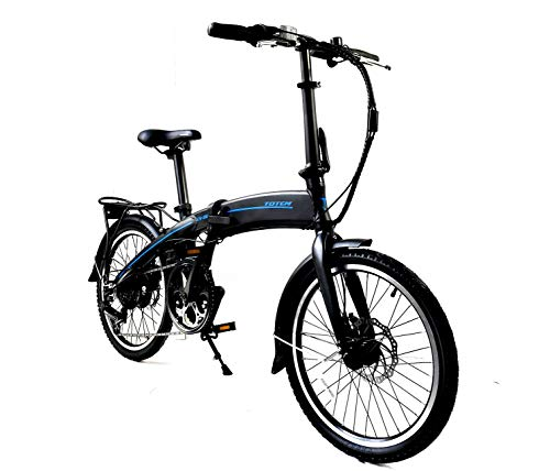 Totem Electric Bicycle 250W Commuter Series 20' Folding Bike w/Removable 36V Battery, 5 Level Pedal...