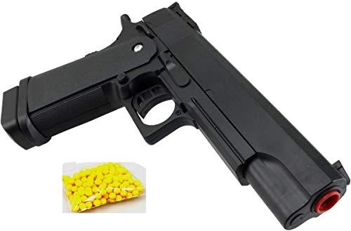 KS-11 Spielzeug Pistole/Airsoft/schwarz / 0,49Joule / Länge 22,5cm / 6mm BB Softair Kugelpistole mit Magazin Airsoft Munition Polizei Dienstwaffe Spielzeug für Jungs