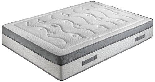 Crown Bedding J88101100 Royal Spring 800 - Materasso con Molle indipendenti, durezza: 4, in Gel Effetto Memory, 90 x 200 cm